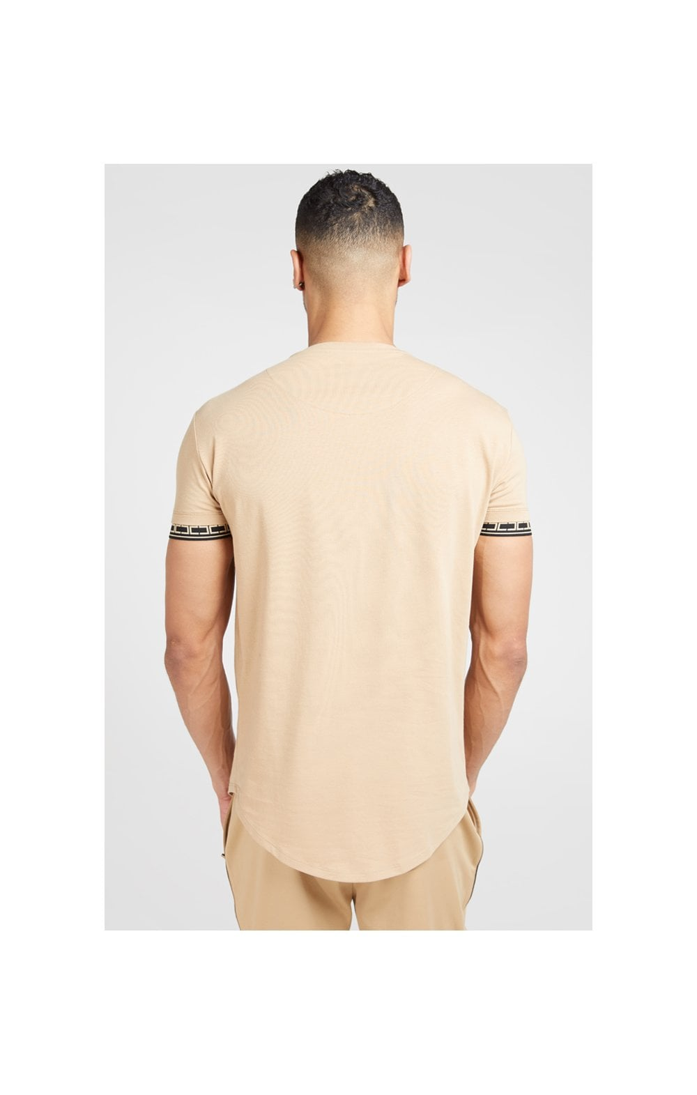 SikSilk S/S Scope Gym Tee – Beige (5)
