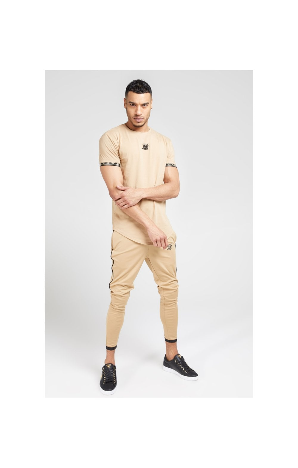 SikSilk S/S Scope Gym Tee – Beige (1)