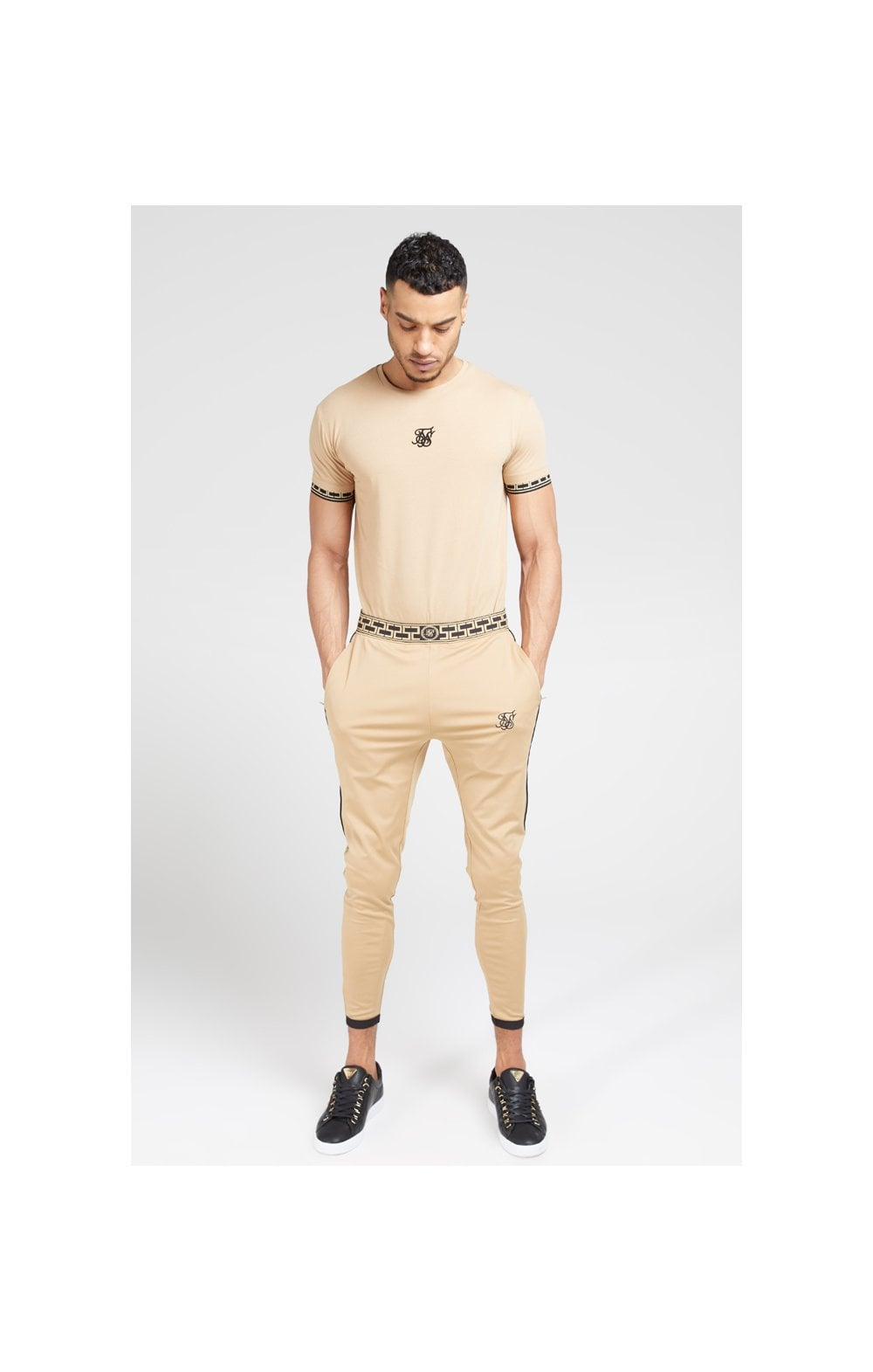 SikSilk S/S Scope Gym Tee – Beige (2)