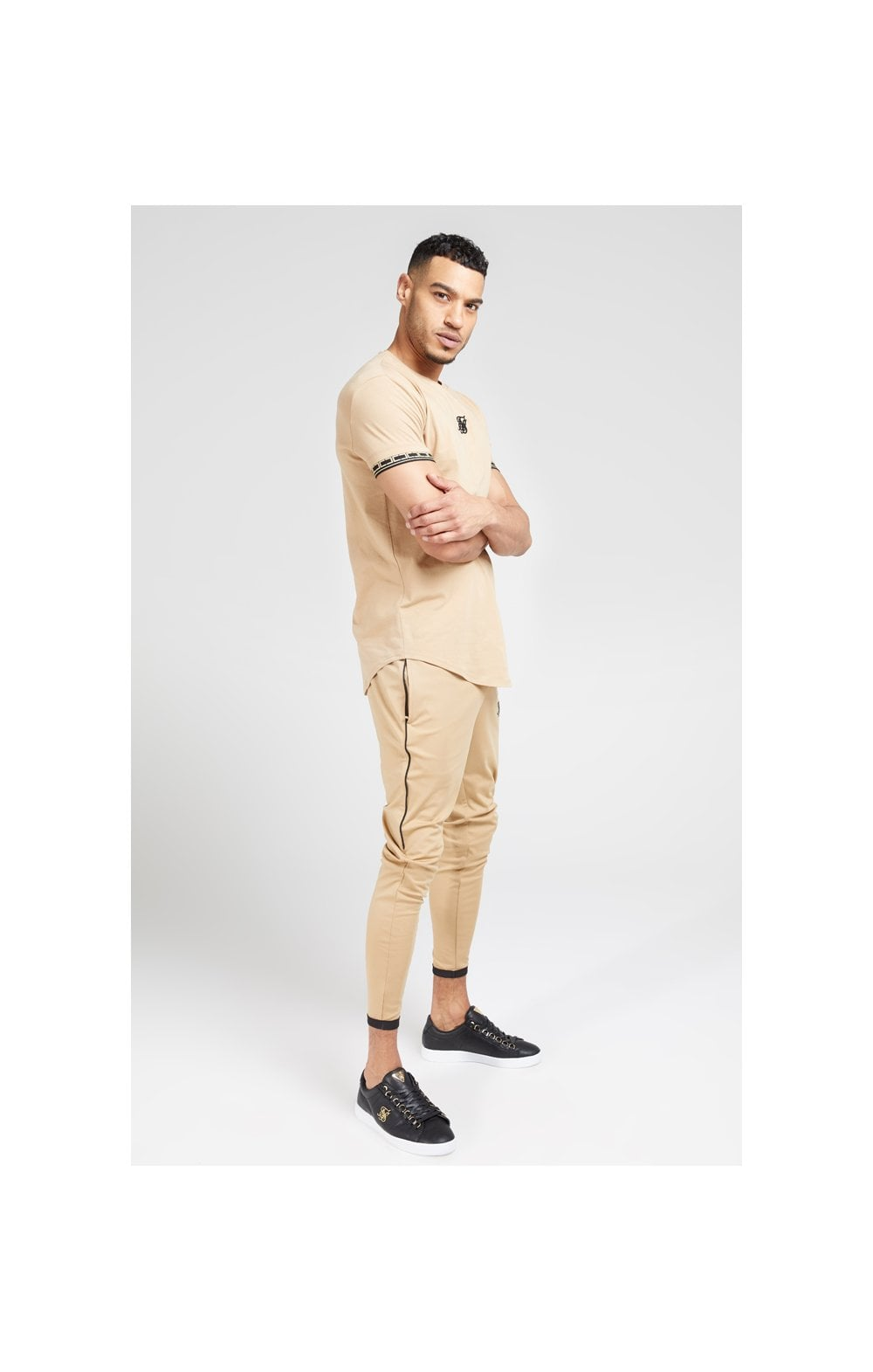 SikSilk S/S Scope Gym Tee – Beige (3)