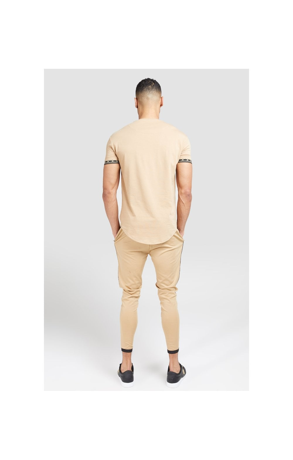SikSilk S/S Scope Gym Tee – Beige (4)