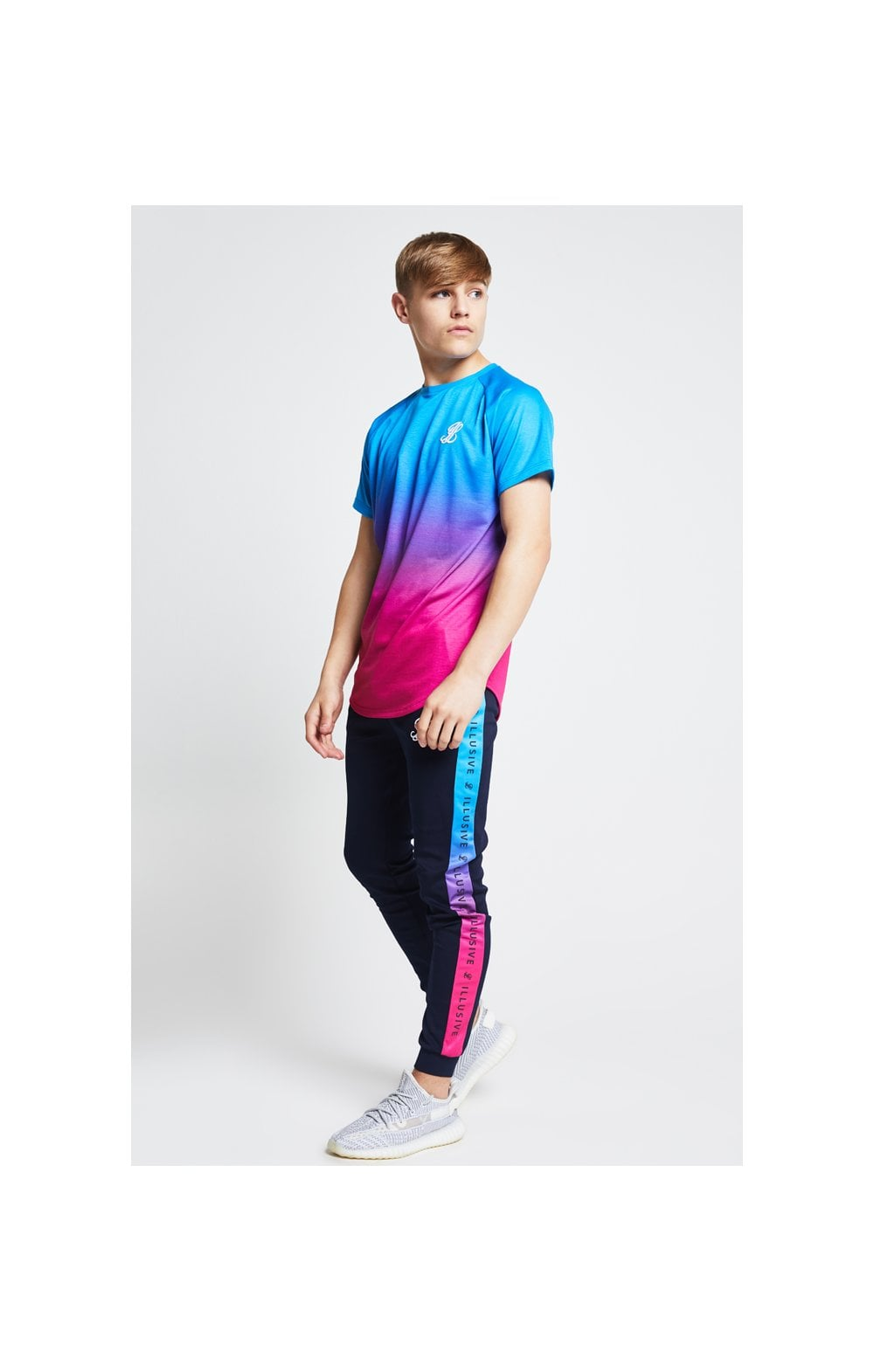 Illusive London Fade Tee - Blue & Pink (4)