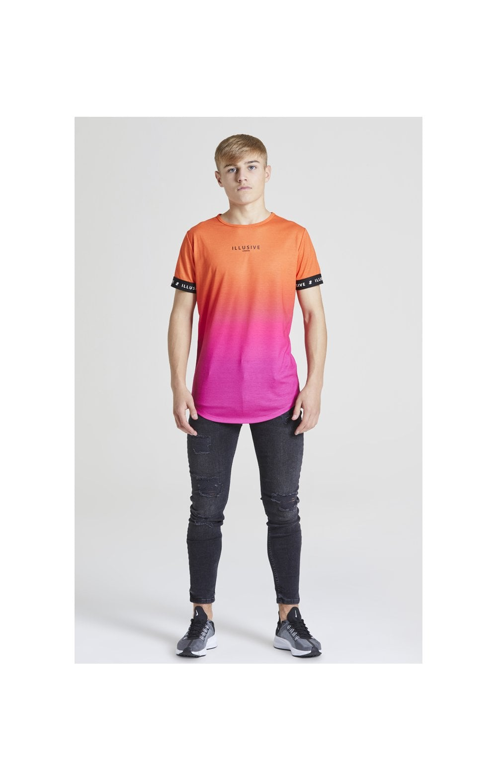 Load image into Gallery viewer, Illusive London Fade Tech Tee - Orange & Pink (3)