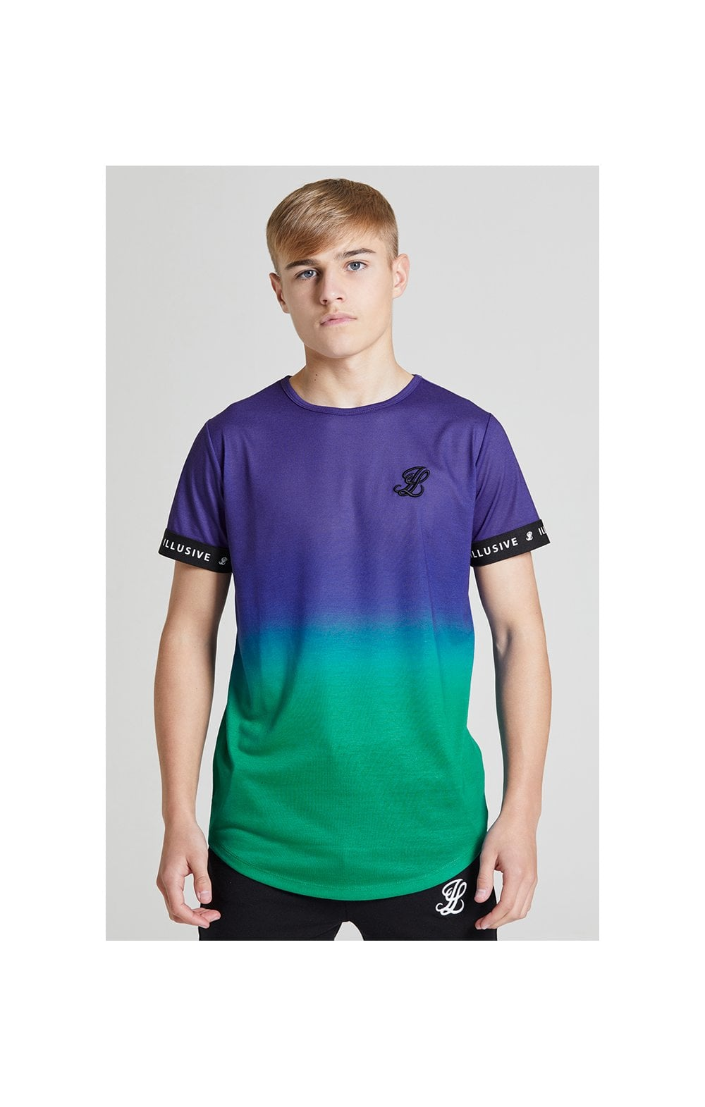 Load image into Gallery viewer, Illusive London Fade Tech Tee - Purple & Teal Green