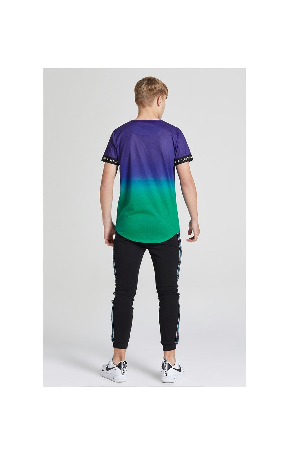 Load image into Gallery viewer, Illusive London Fade Tech Tee - Purple & Teal Green (5)