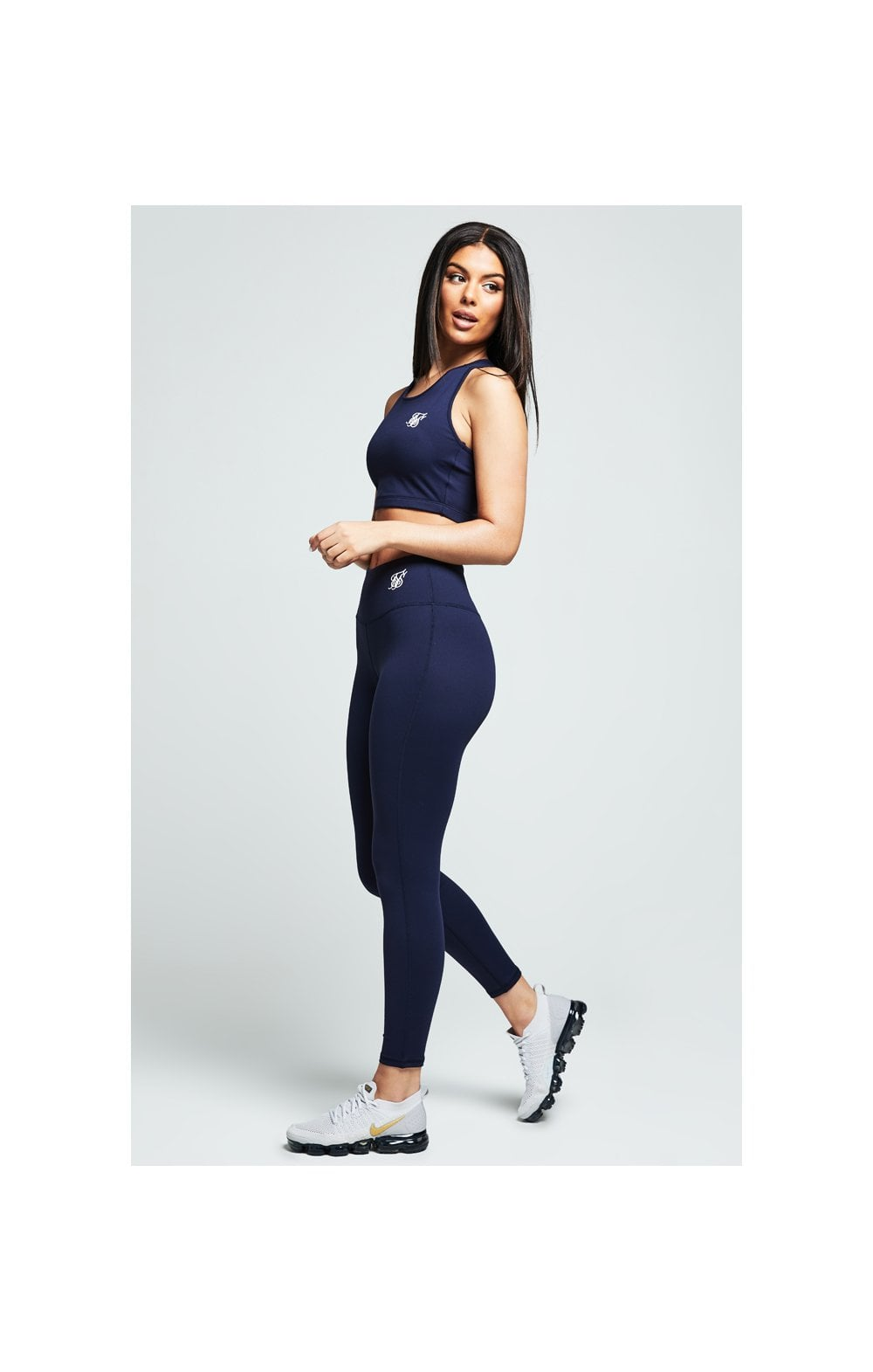 Load image into Gallery viewer, SikSilk Gym Leggings – Navy (3)