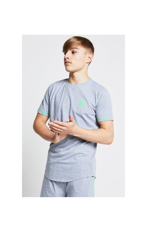 Illusive London Tee – Grey & Neon Green