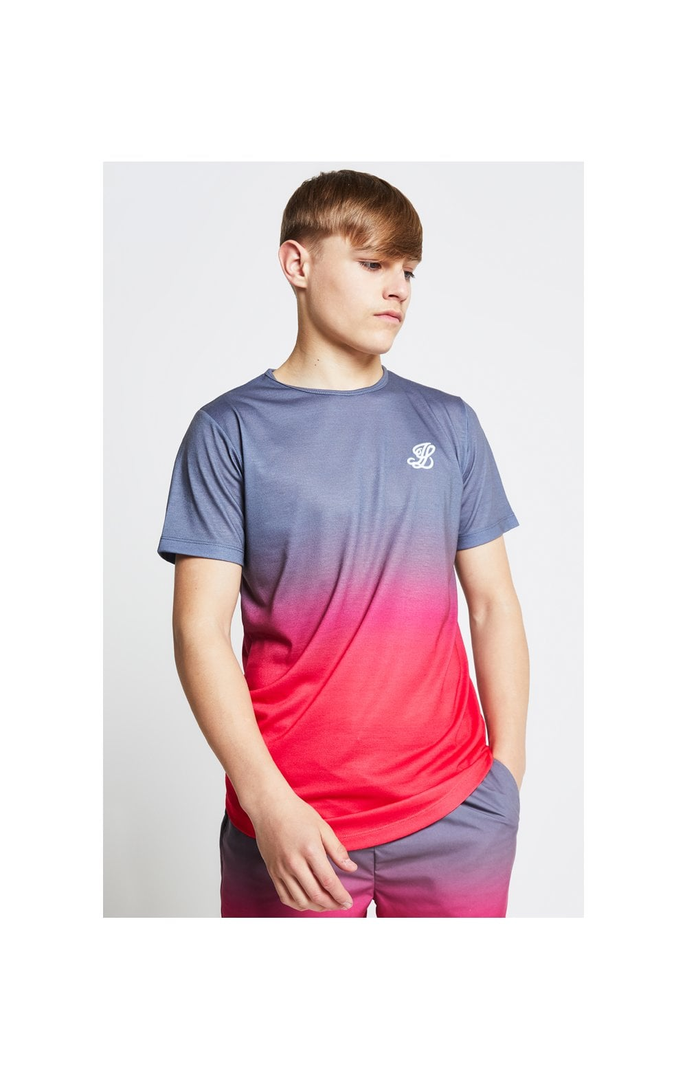 Load image into Gallery viewer, Illusive London Fade Tee - Grey & Pink (1)