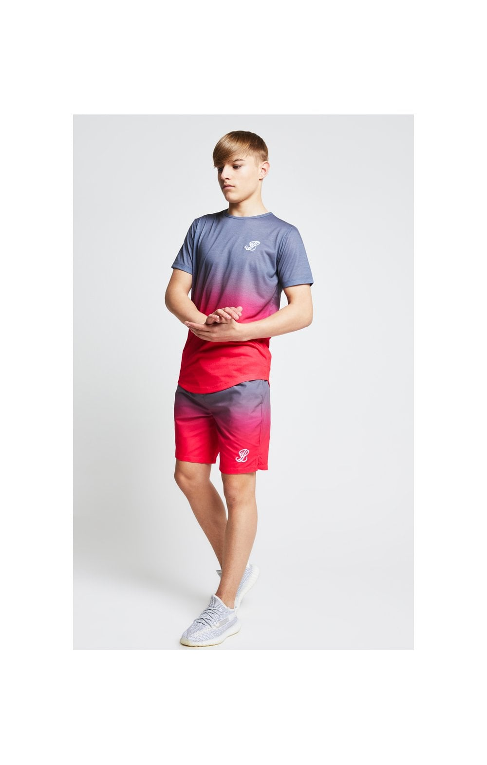Load image into Gallery viewer, Illusive London Fade Tee - Grey & Pink (2)