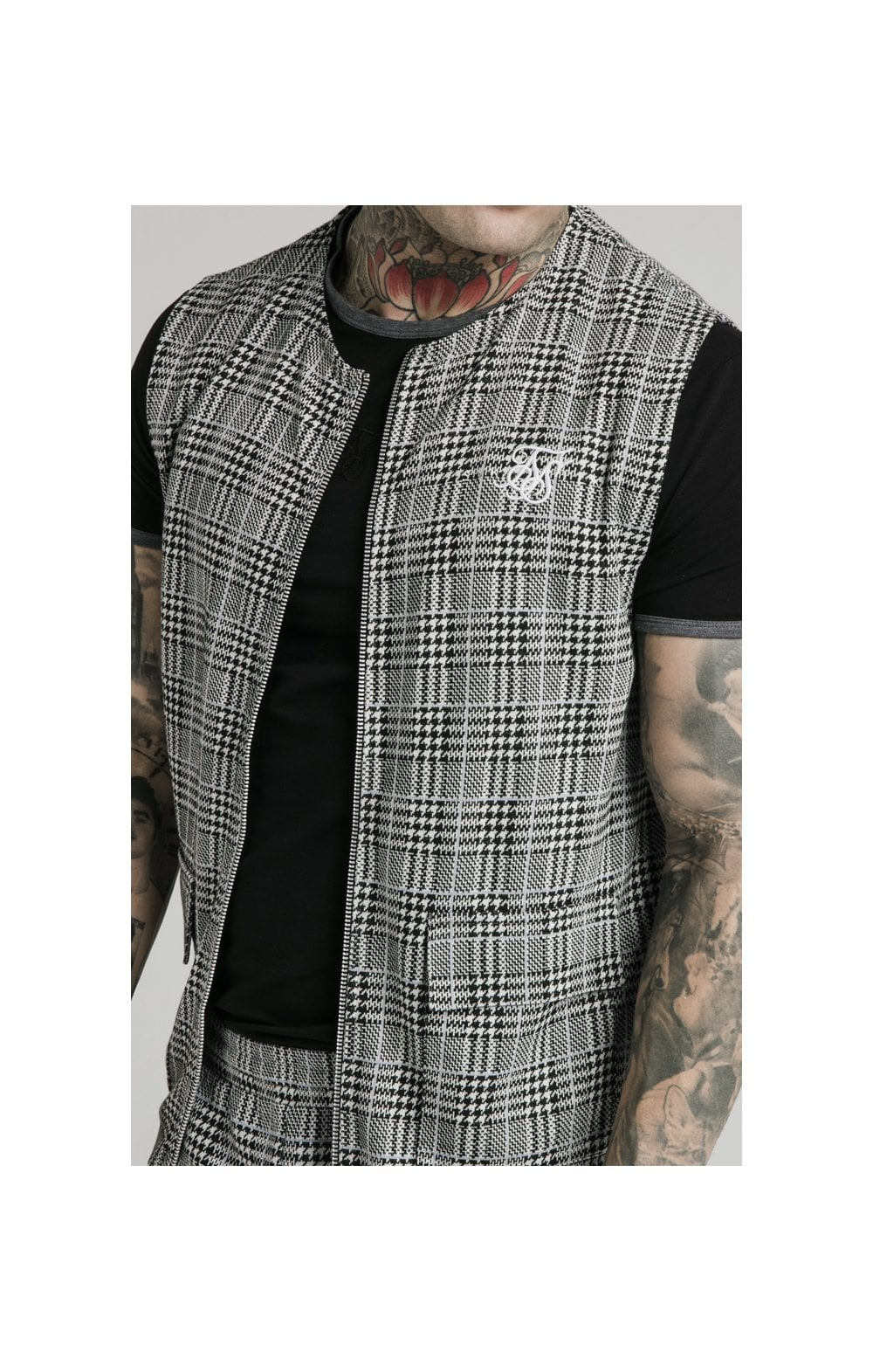SikSilk Smart Wear Vest - Grey Dogtooth