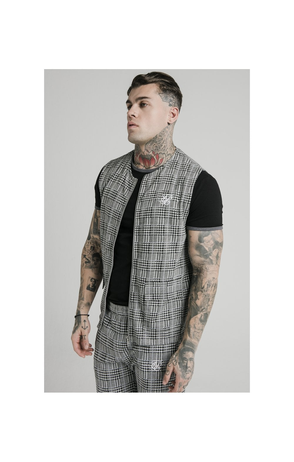 SikSilk Smart Wear Vest - Grey Dogtooth (1)