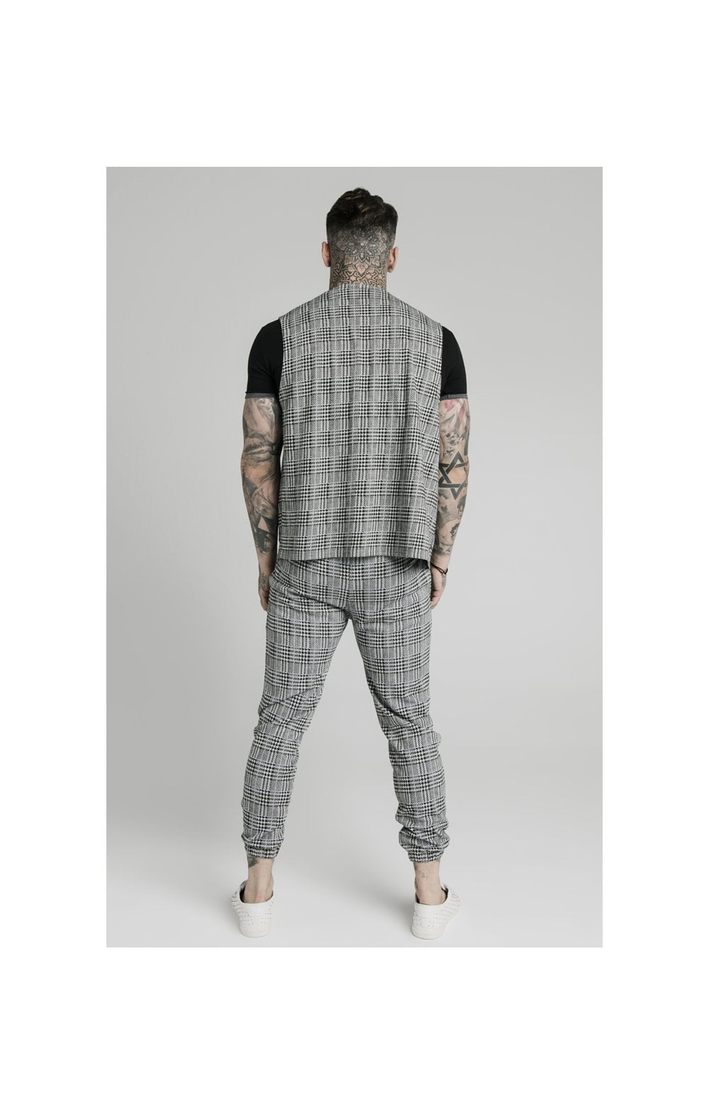 SikSilk Smart Wear Vest - Grey Dogtooth (4)