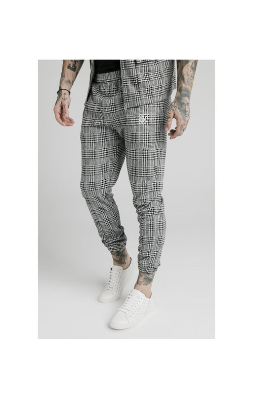 SikSilk Smart Cuff Pants - Grey Dogtooth