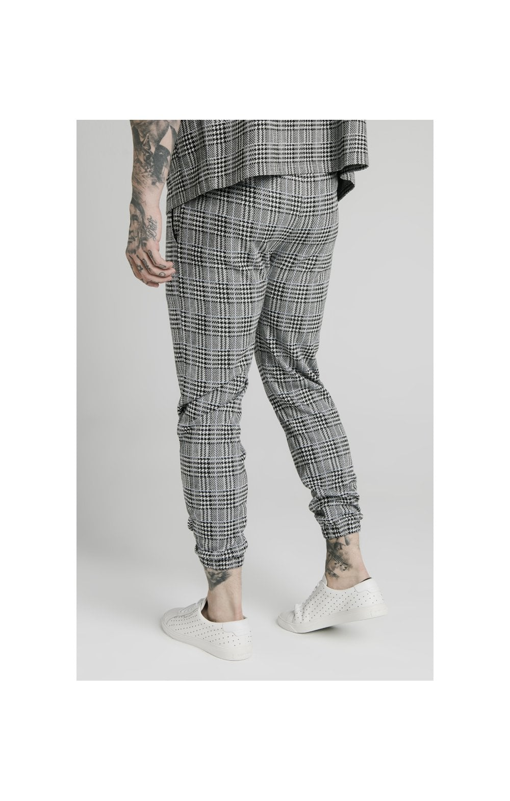 SikSilk Smart Cuff Pants - Grey Dogtooth (2)