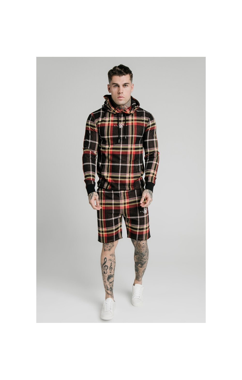 Load image into Gallery viewer, SikSilk Smart Overhead Hoodie Multi Grain Check (2)