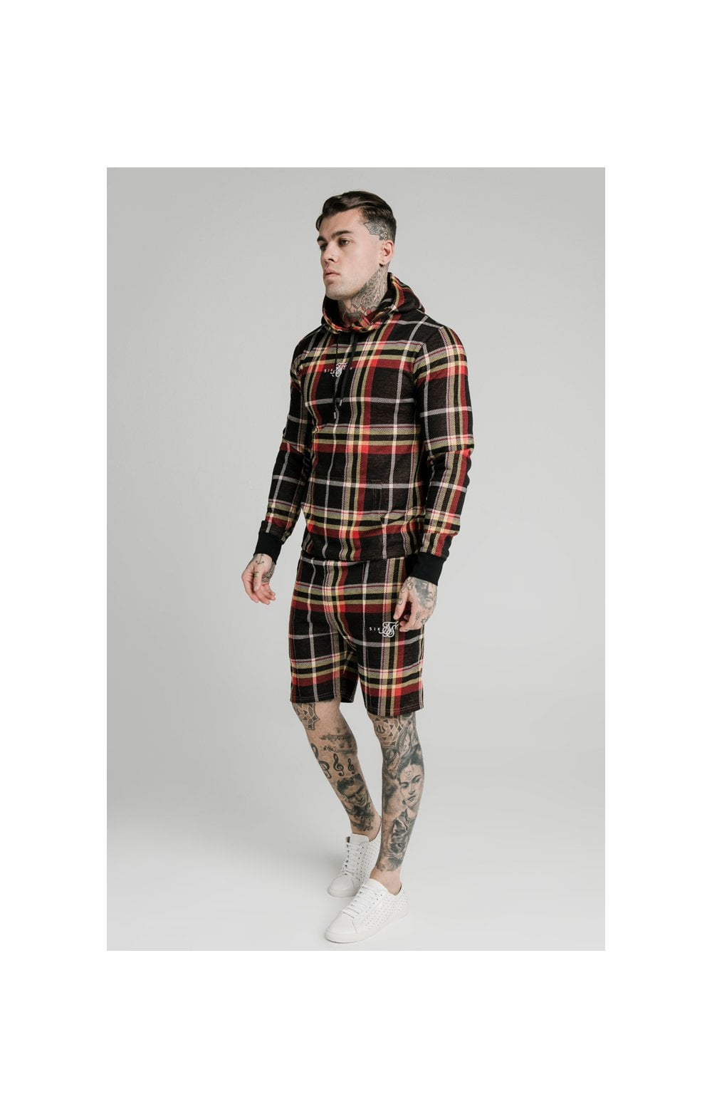 Load image into Gallery viewer, SikSilk Smart Overhead Hoodie Multi Grain Check (3)