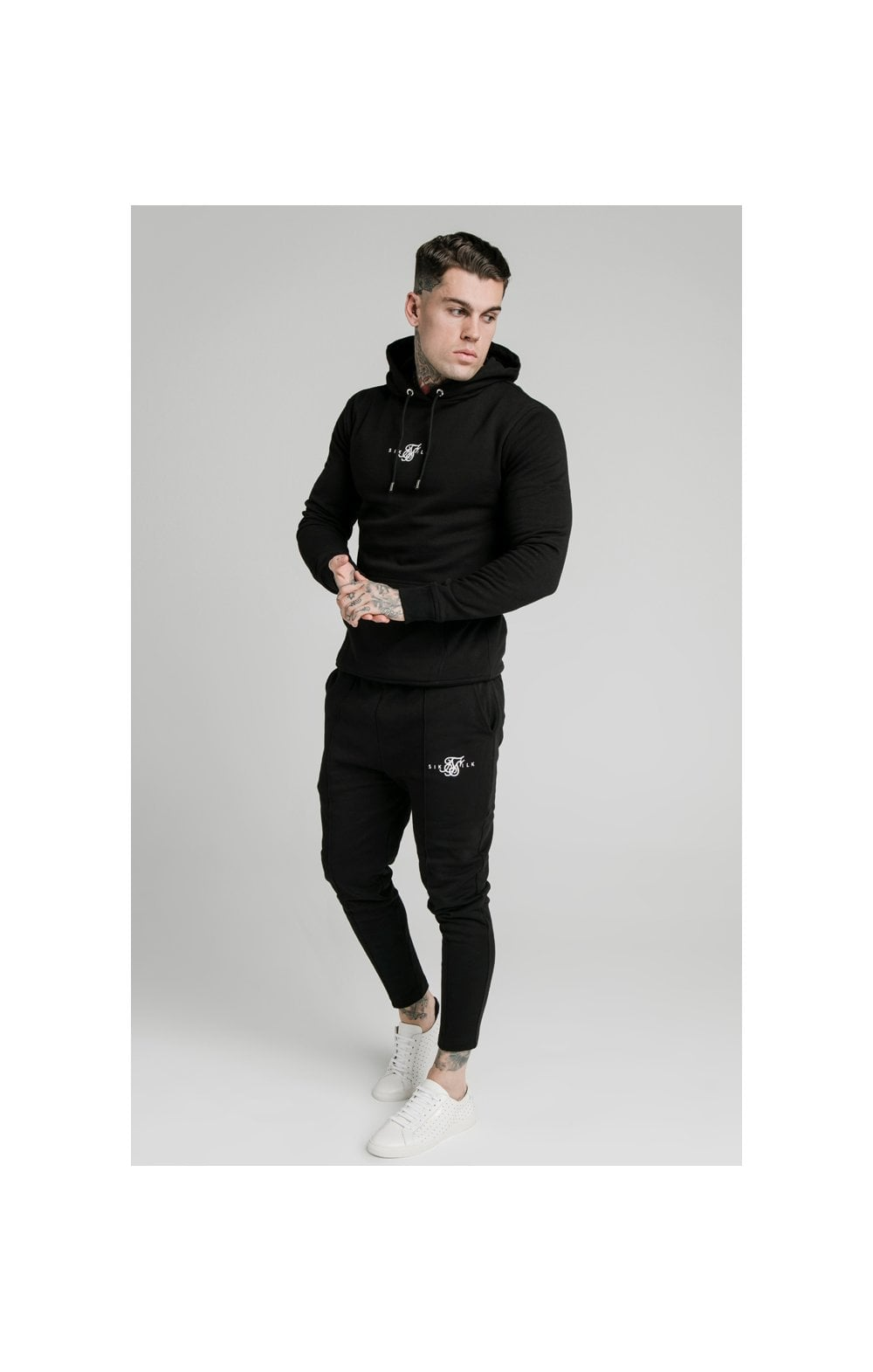 Load image into Gallery viewer, SikSilk Smart Overhead Hoodie - Black (3)