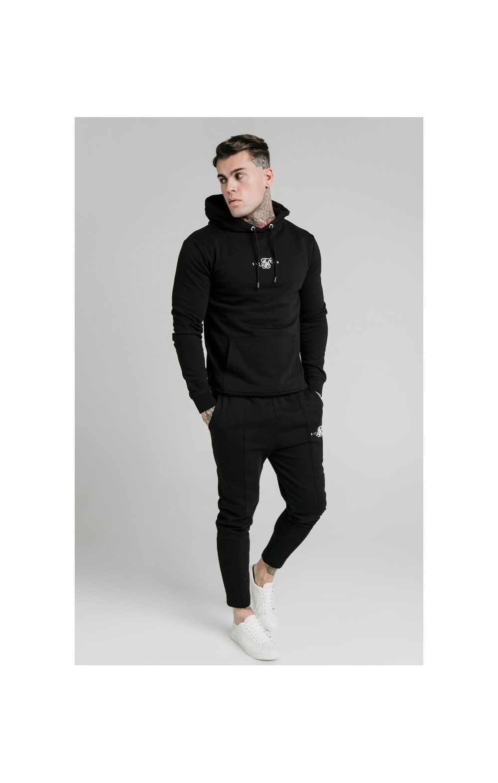 Load image into Gallery viewer, SikSilk Smart Overhead Hoodie - Black (4)