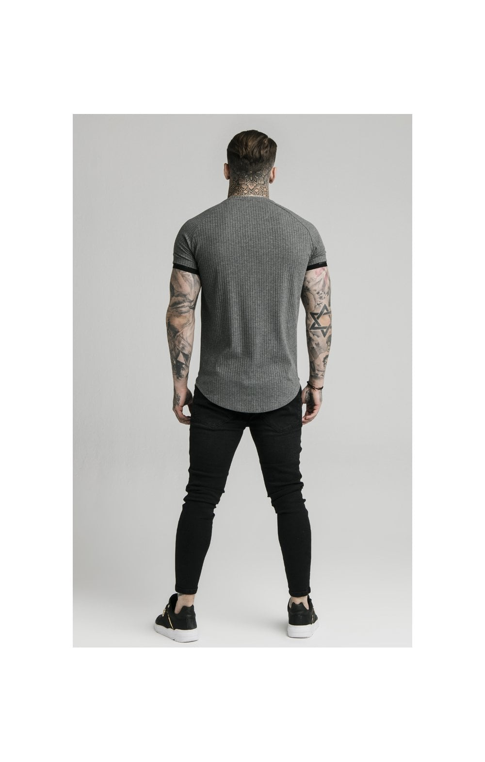 Load image into Gallery viewer, SikSilk S/S Rib Tech Tee – Grey (3)