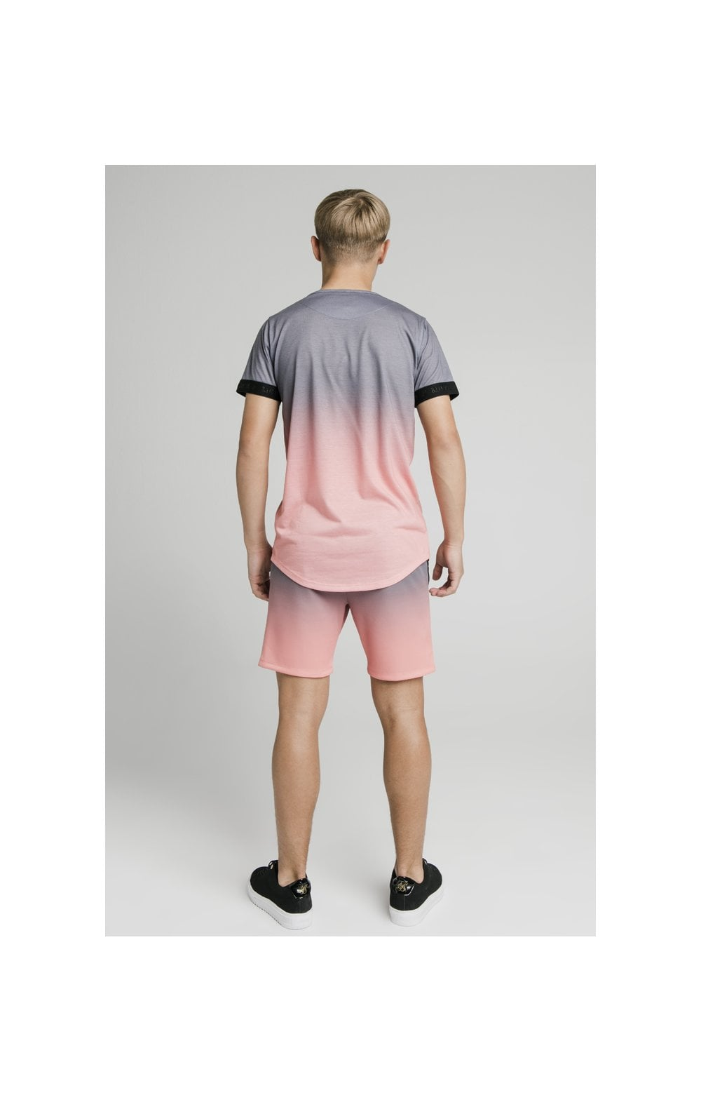 Load image into Gallery viewer, Illusive London Poly Fade Shorts - Grey & Peach (7)