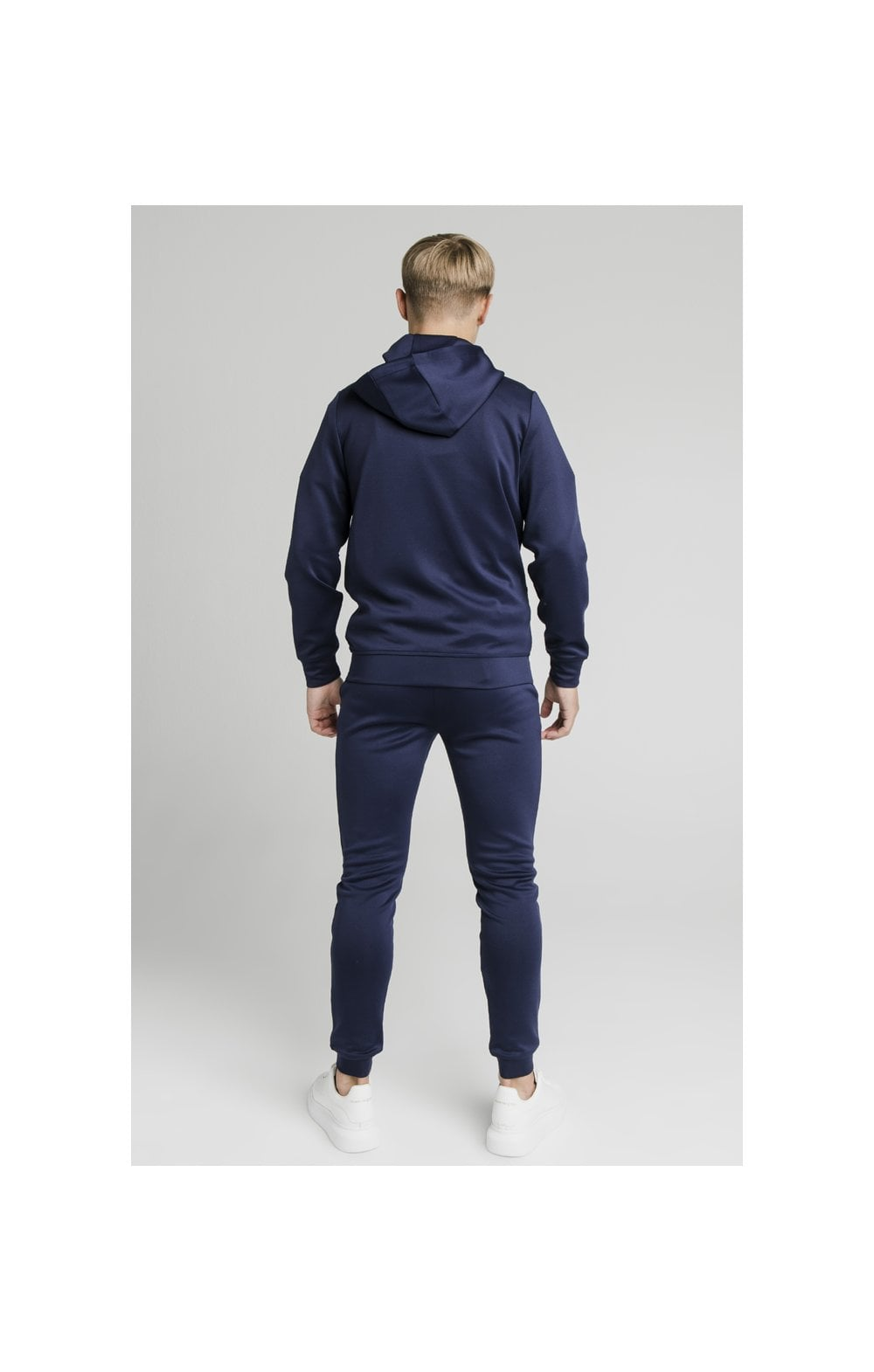 Load image into Gallery viewer, Illusive London Central Tape Zip Through Hoodie - Navy (7)