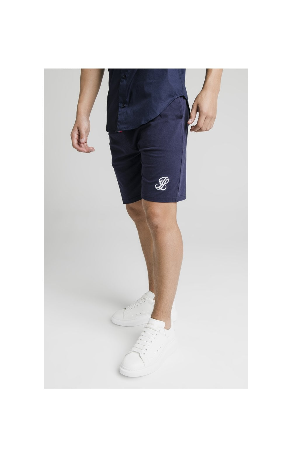 Illusive London Side Tape Jersey Shorts - Navy