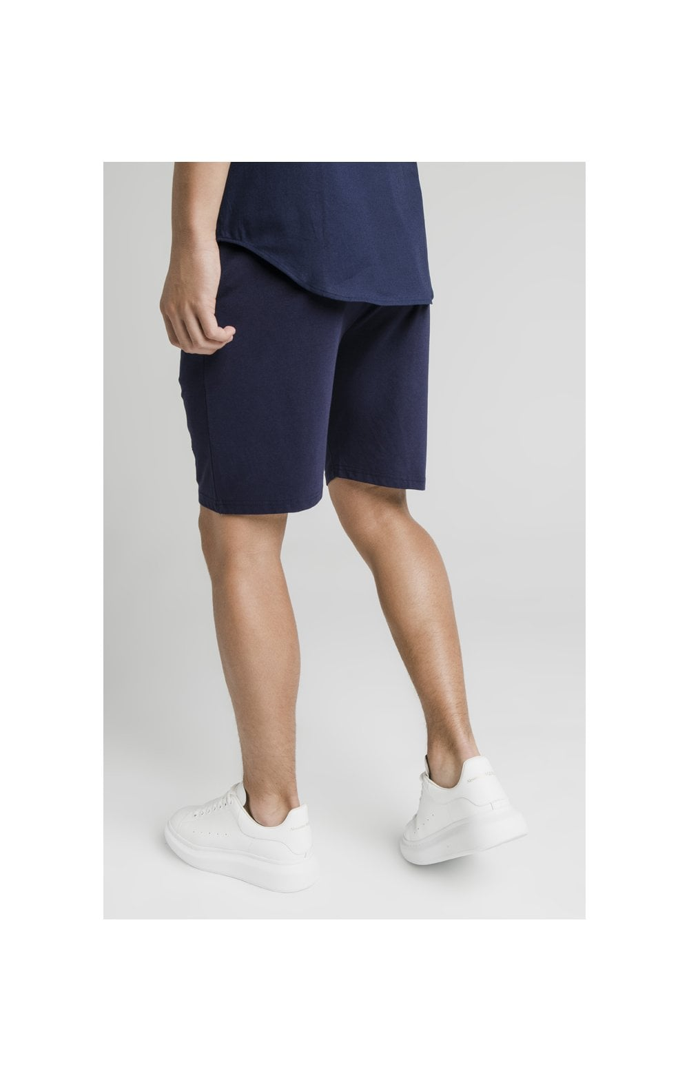 Load image into Gallery viewer, Illusive London Side Tape Jersey Shorts - Navy (3)