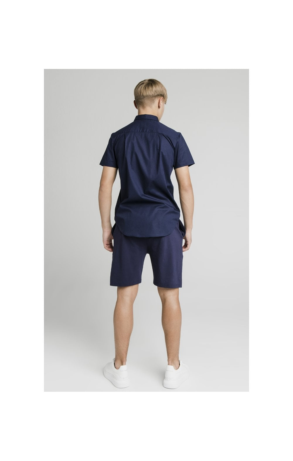 Load image into Gallery viewer, Illusive London Side Tape Jersey Shorts - Navy (7)