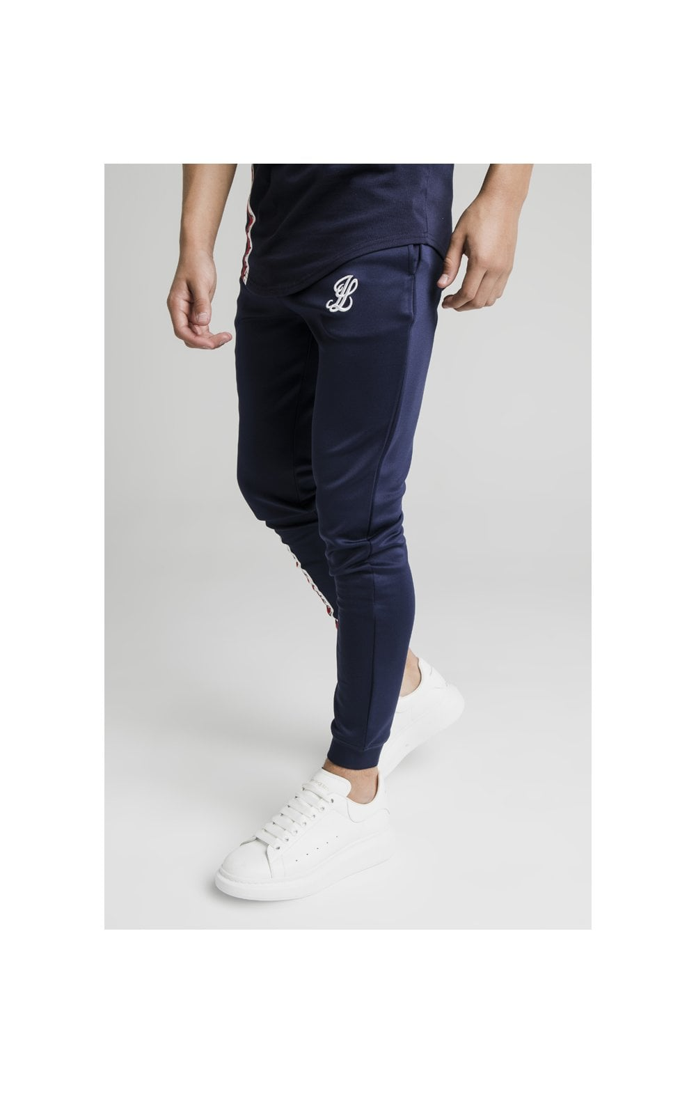 Illusive London Side Tape Joggers - Navy