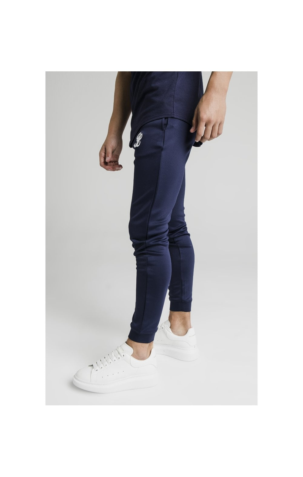 Illusive London Side Tape Joggers - Navy (1)