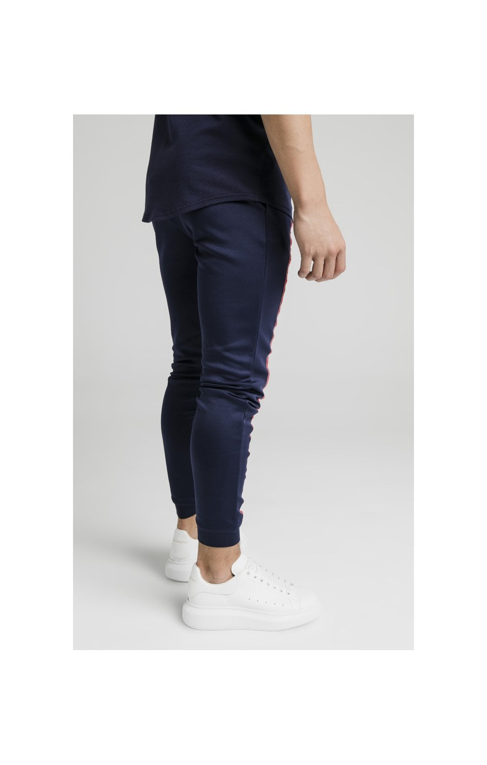 Illusive London Side Tape Joggers - Navy (4)