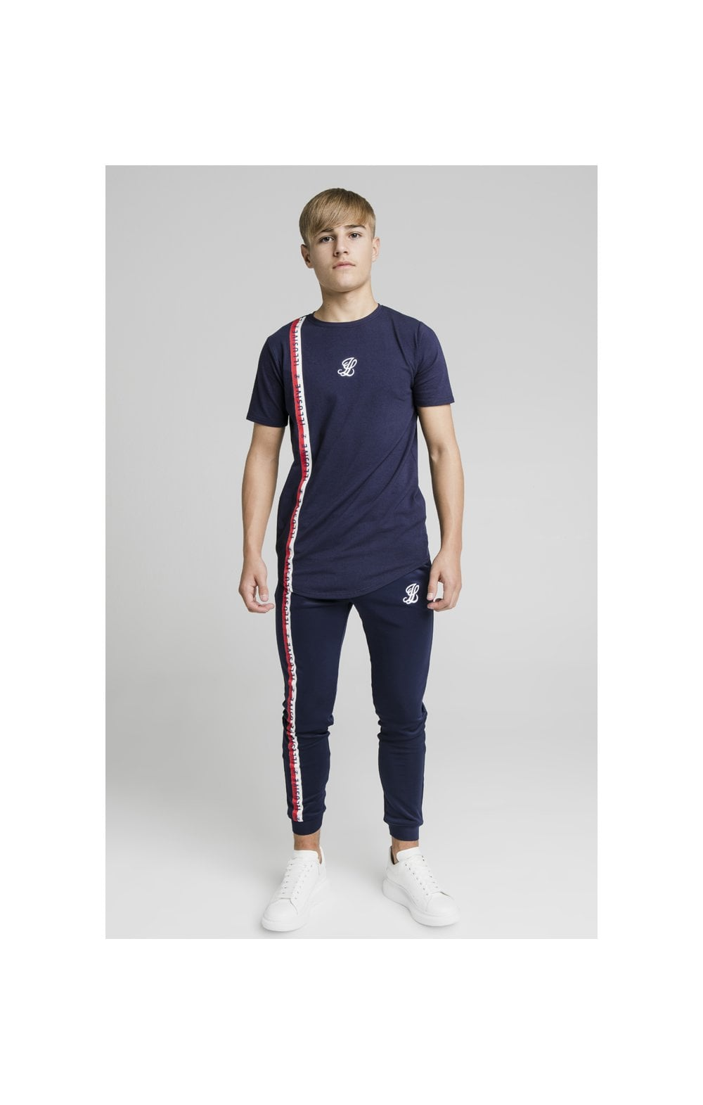 Illusive London Side Tape Joggers - Navy (5)