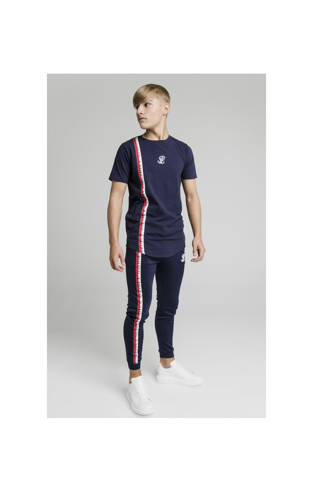Illusive London Side Tape Joggers - Navy (6)
