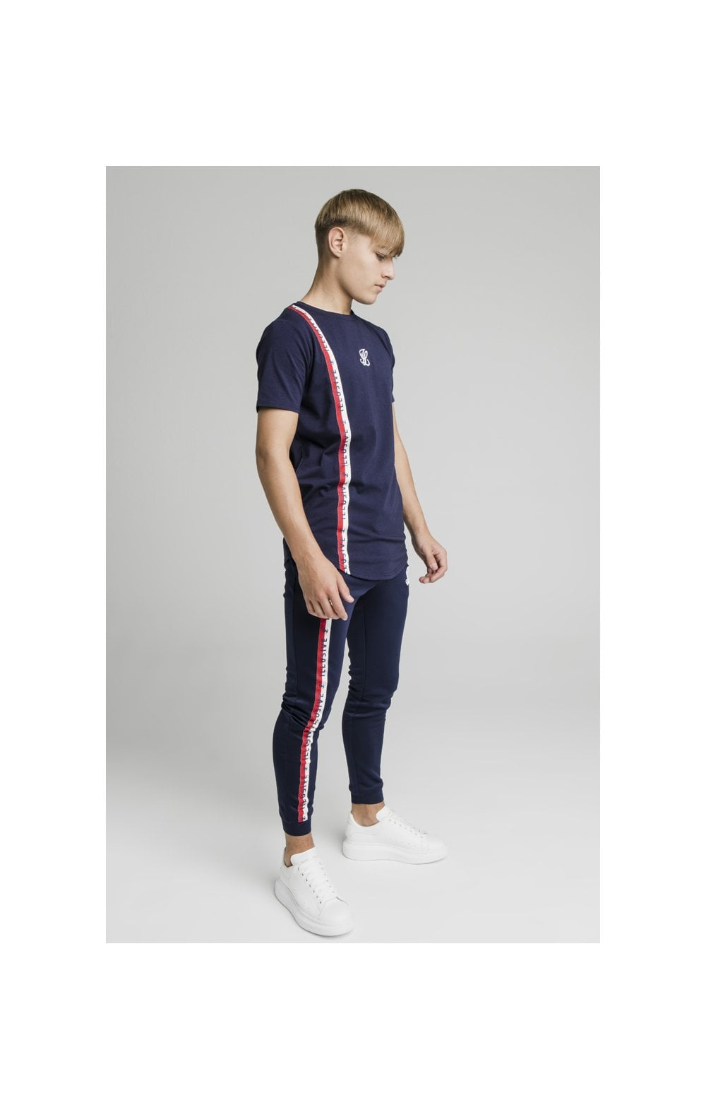 Illusive London Side Tape Joggers - Navy (7)