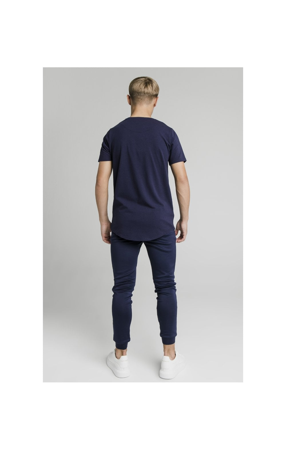 Illusive London Side Tape Joggers - Navy (9)