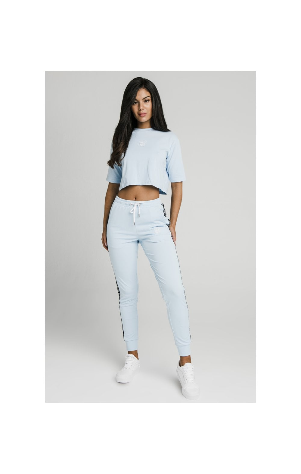 SikSilk Oversize Crop Tee - Light Blue (4)