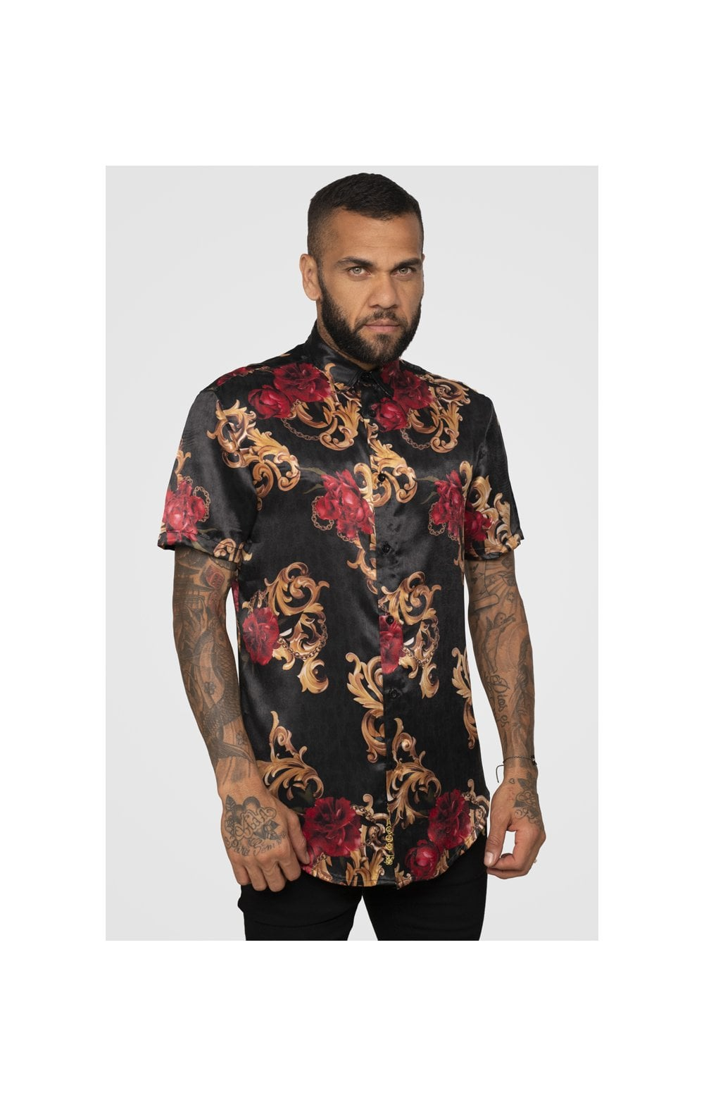 Load image into Gallery viewer, SikSilk x Dani Alves Resort Shirt - Floral Animal (2)