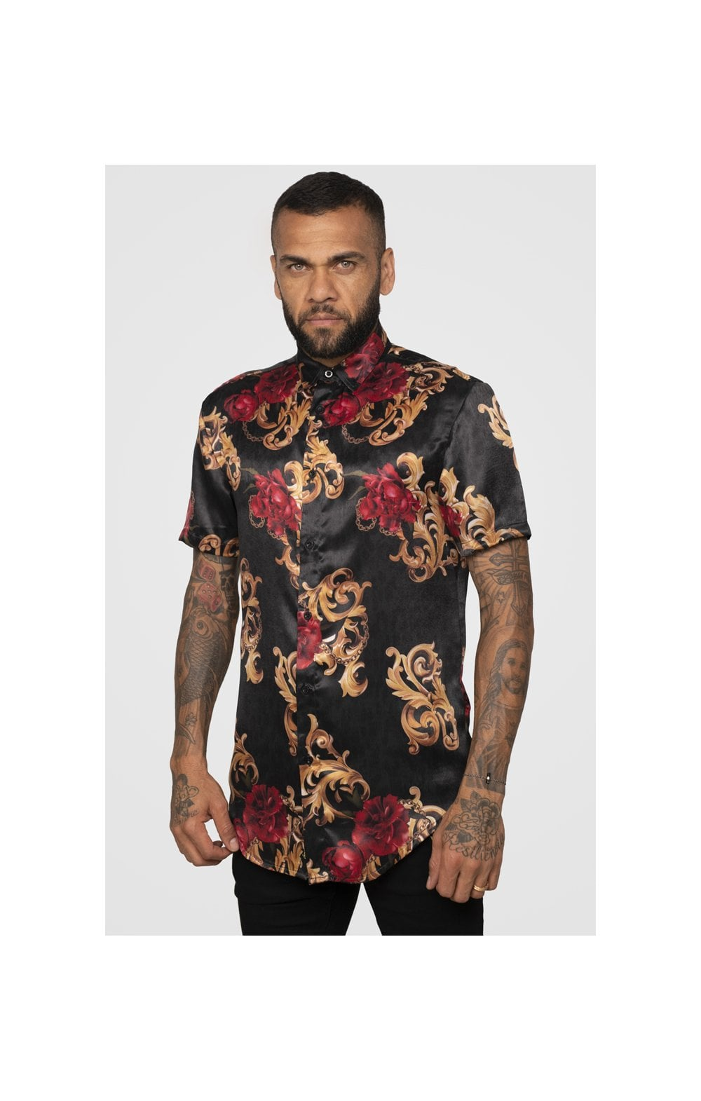 Load image into Gallery viewer, SikSilk x Dani Alves Resort Shirt - Floral Animal (4)