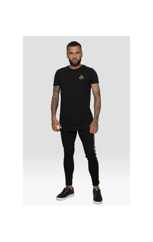 SikSilk X Dani Alves S/S Prestige Straight Hem Gym Tee – Black