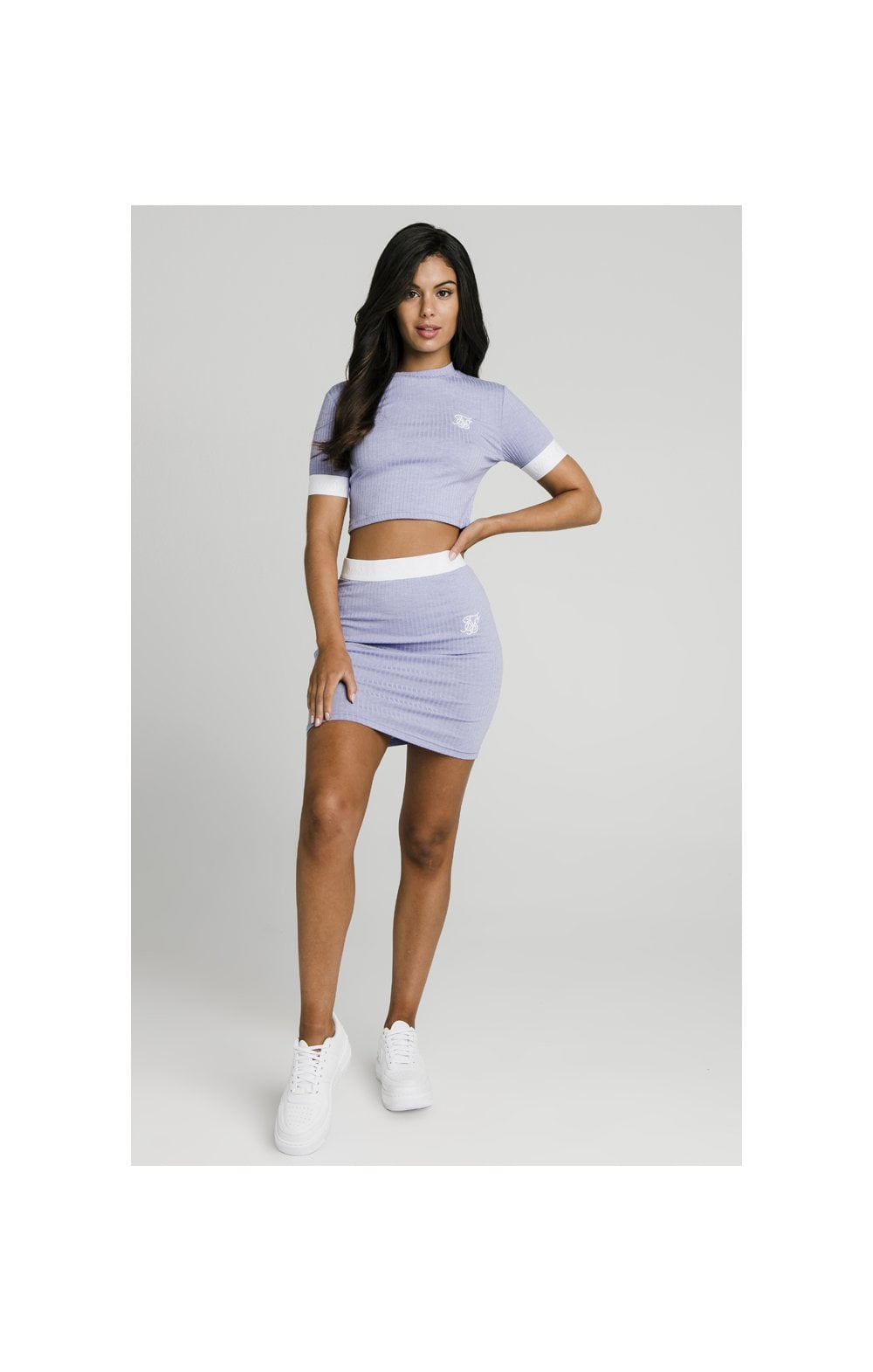 Load image into Gallery viewer, SikSillk Rib Tube Skirt - Violet (1)