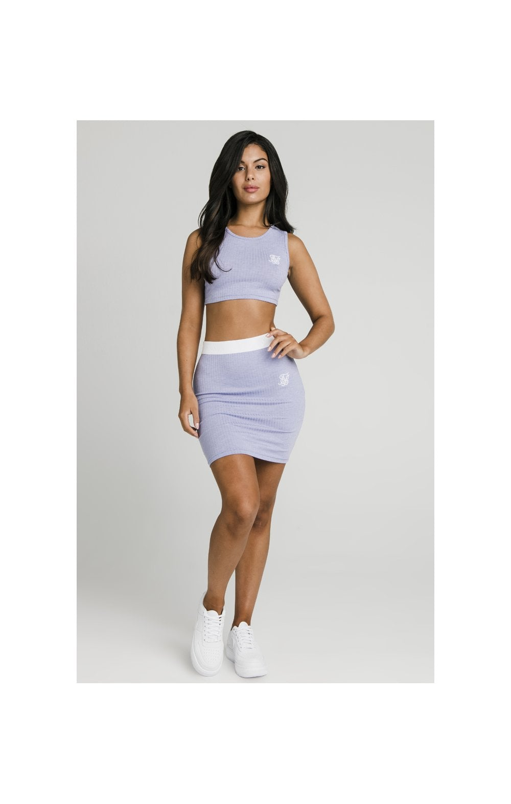Load image into Gallery viewer, SikSillk Rib Tube Skirt - Violet (3)