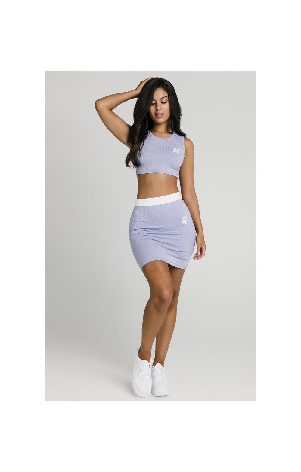 Load image into Gallery viewer, SikSillk Rib Tube Skirt - Violet (4)