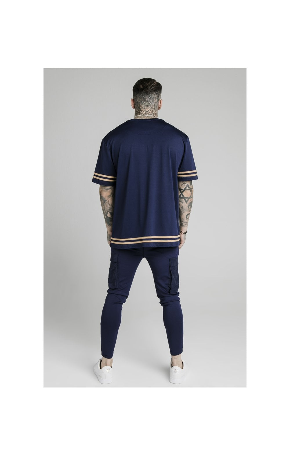 SikSilk S/S Essential Tee - Navy Eclipse (4)