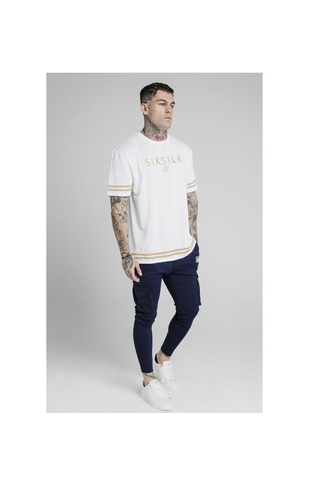 Load image into Gallery viewer, SikSilk Crushed Nylon Cargo Pants - Navy (4)