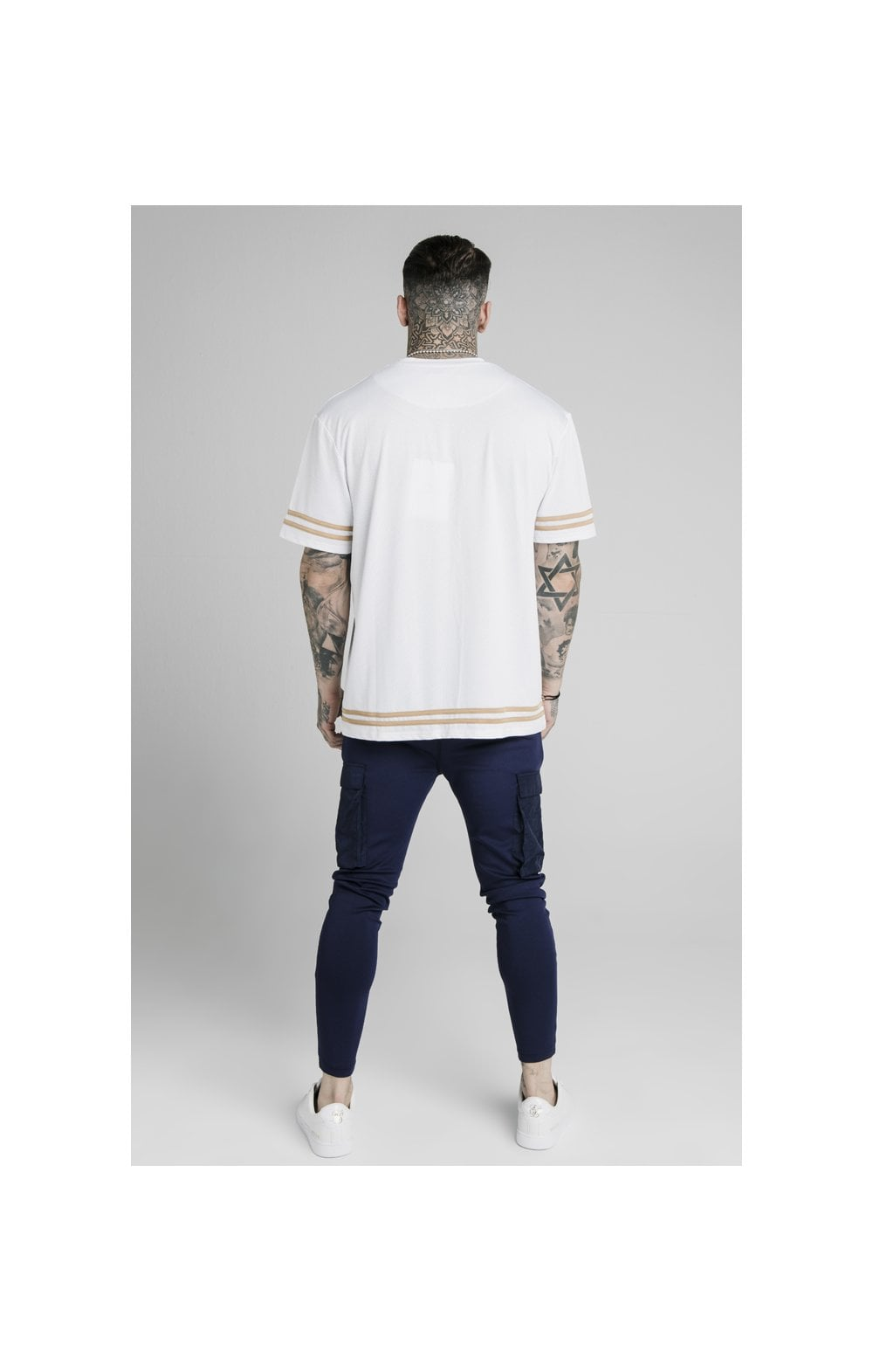 Load image into Gallery viewer, SikSilk Crushed Nylon Cargo Pants - Navy (5)