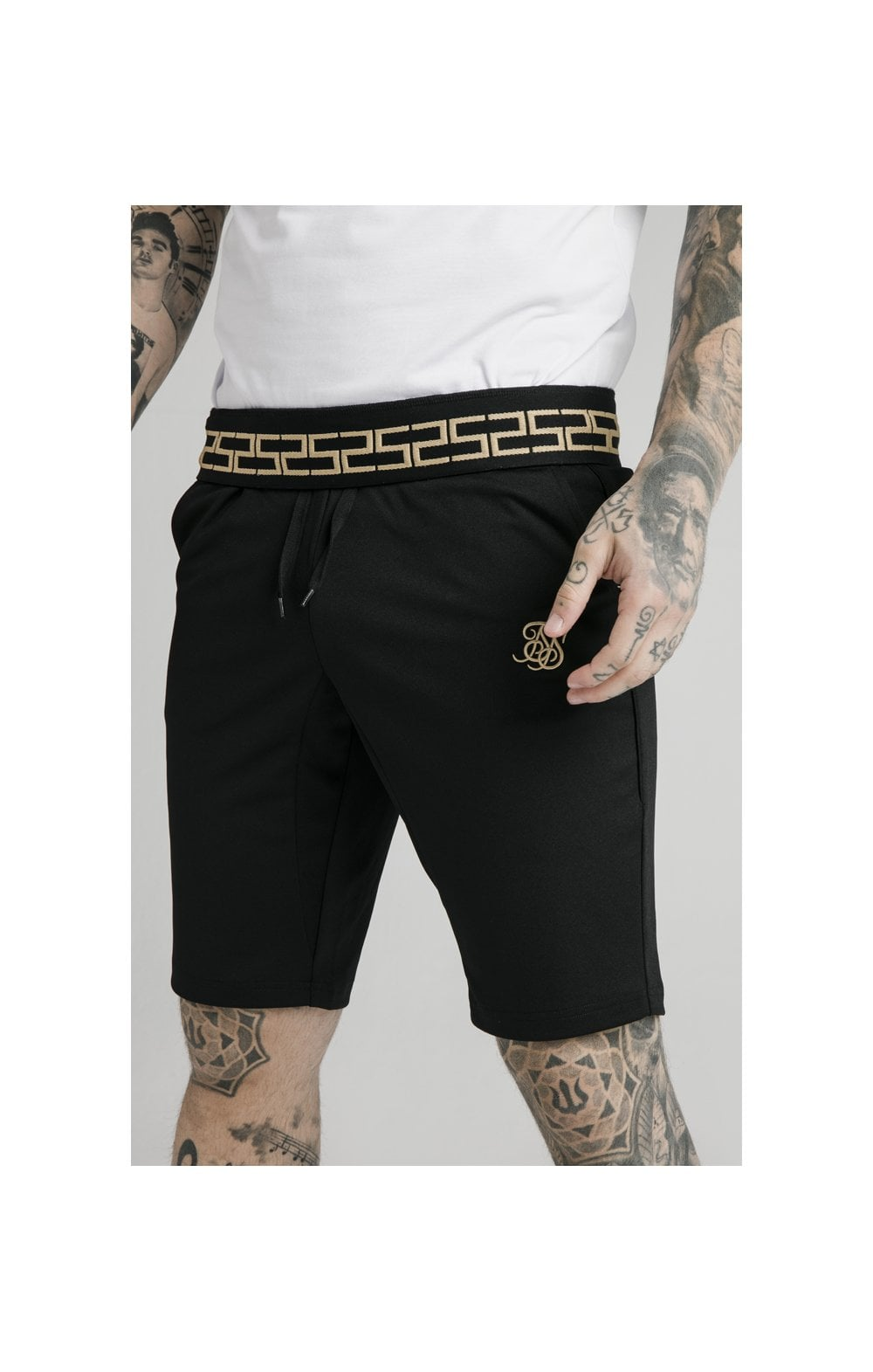 Load image into Gallery viewer, SikSilk Scope Zonal Shorts - Black & Gold