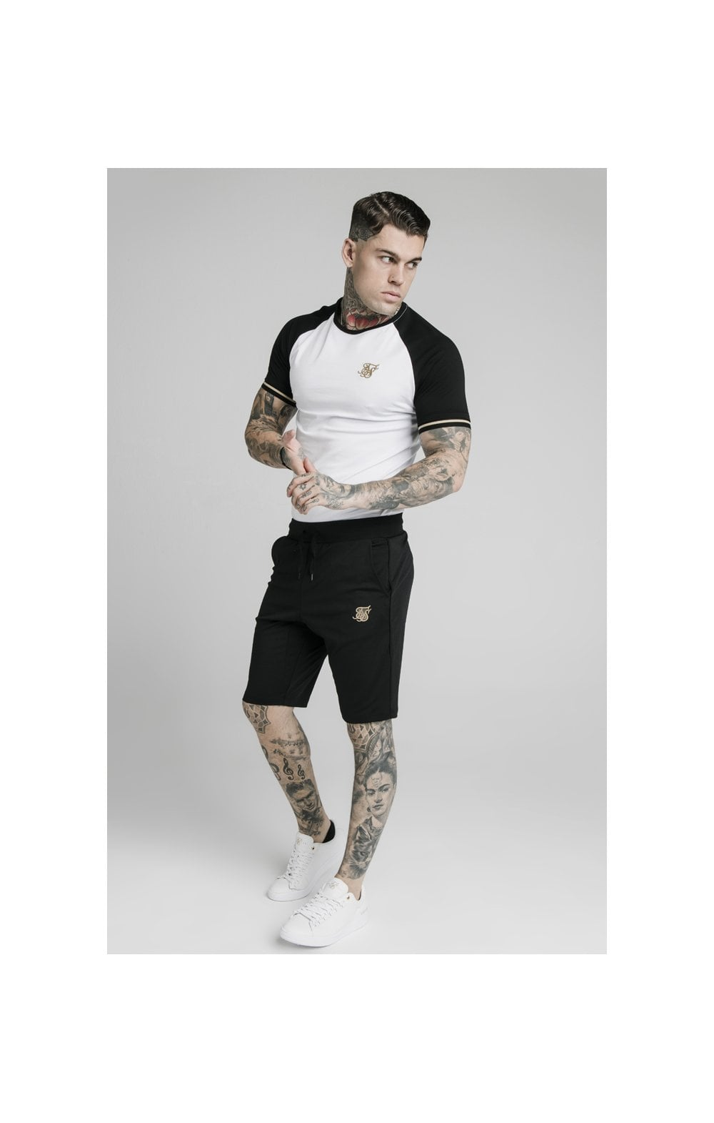 SikSilk Scope Zonal Shorts - Black & Gold (5)