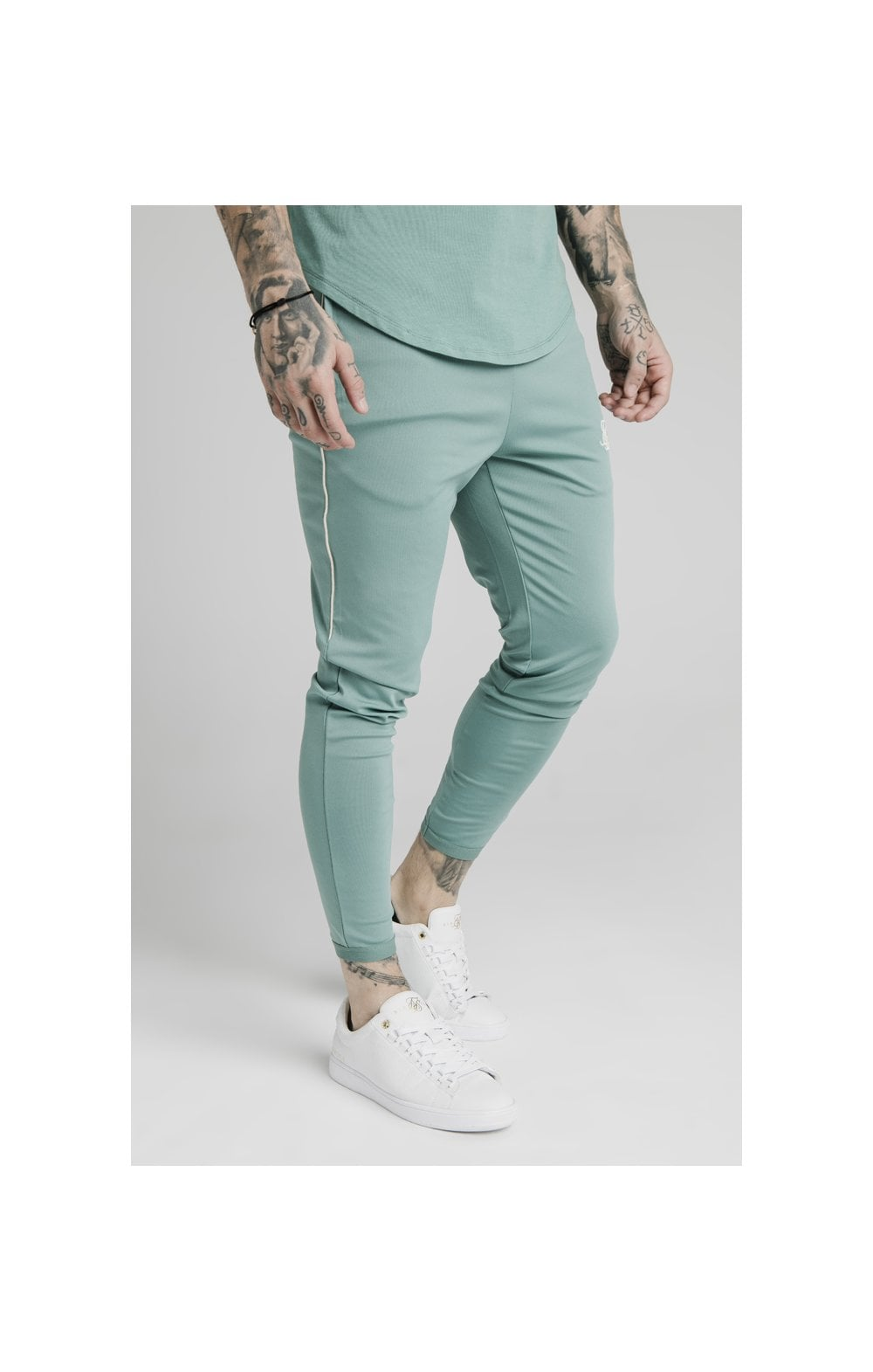 Load image into Gallery viewer, SikSilk Scope Track Pants - Light Petrol Blue (1)
