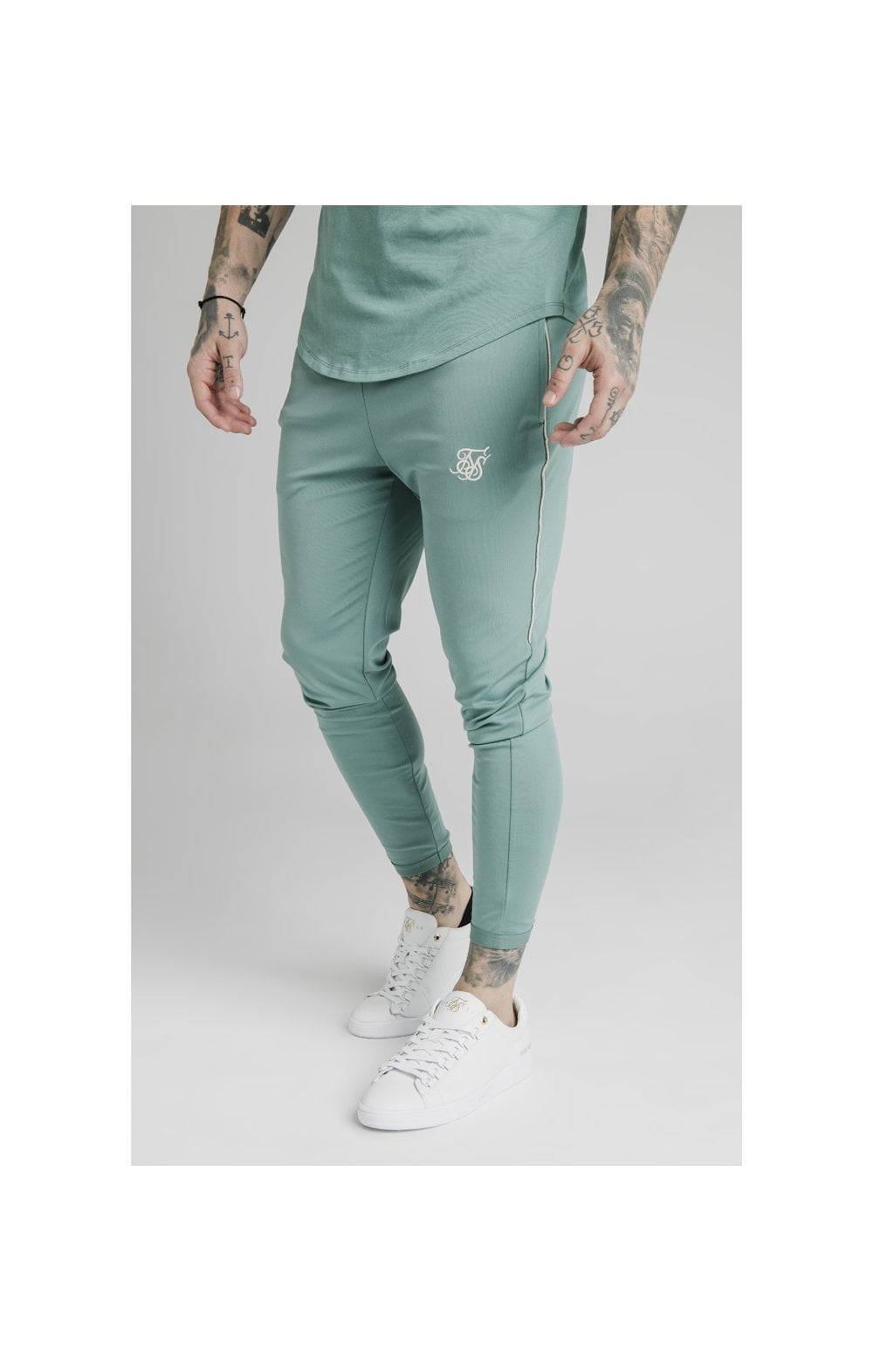 Load image into Gallery viewer, SikSilk Scope Track Pants - Light Petrol Blue
