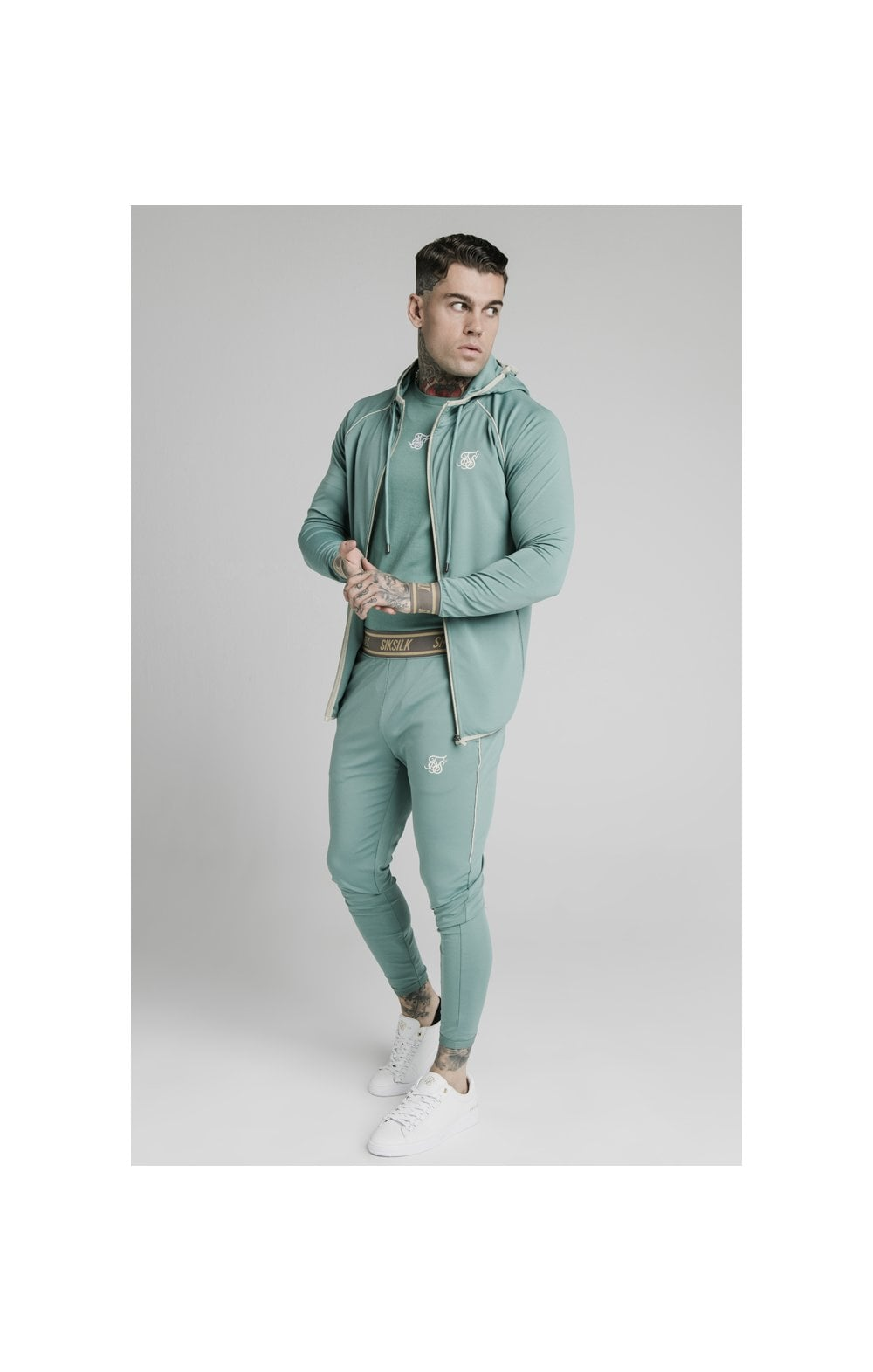 Load image into Gallery viewer, SikSilk Scope Track Pants - Light Petrol Blue (3)